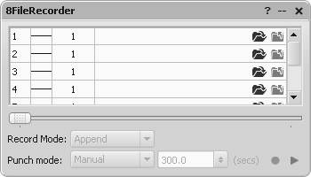 *FileRecorder parameter editor window
