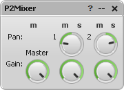 P*Mixer parameter editor window