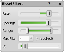 RissetFilters parameter editor window