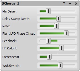 SChorus parameter editor window