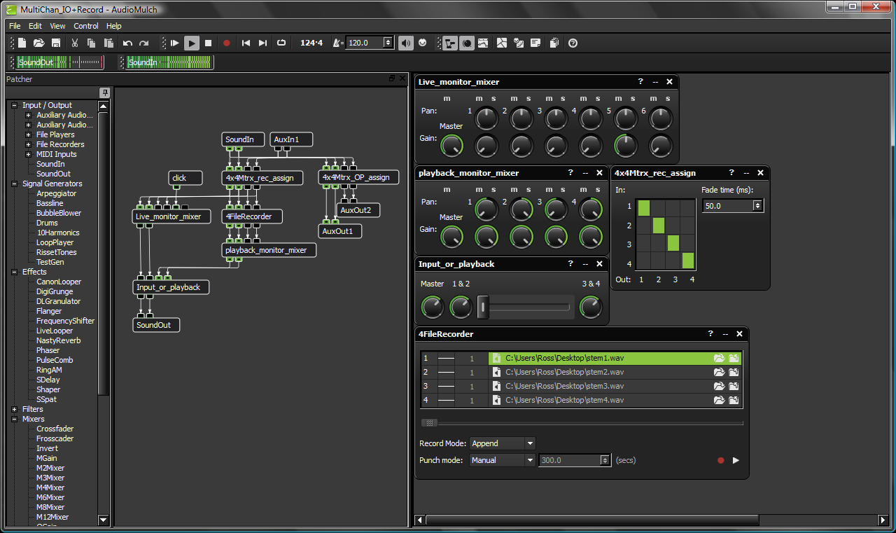 AudioMulch full screenshot